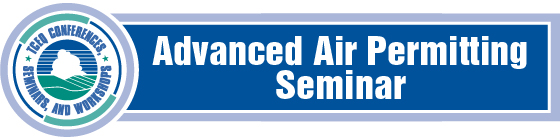 Logo for the Advanced Air Permitting Seminar