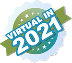 Image promoting the virtual aspect of the event featuring stars