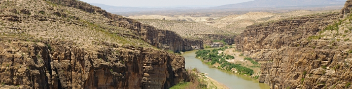 Aerial view of the Rio Grande