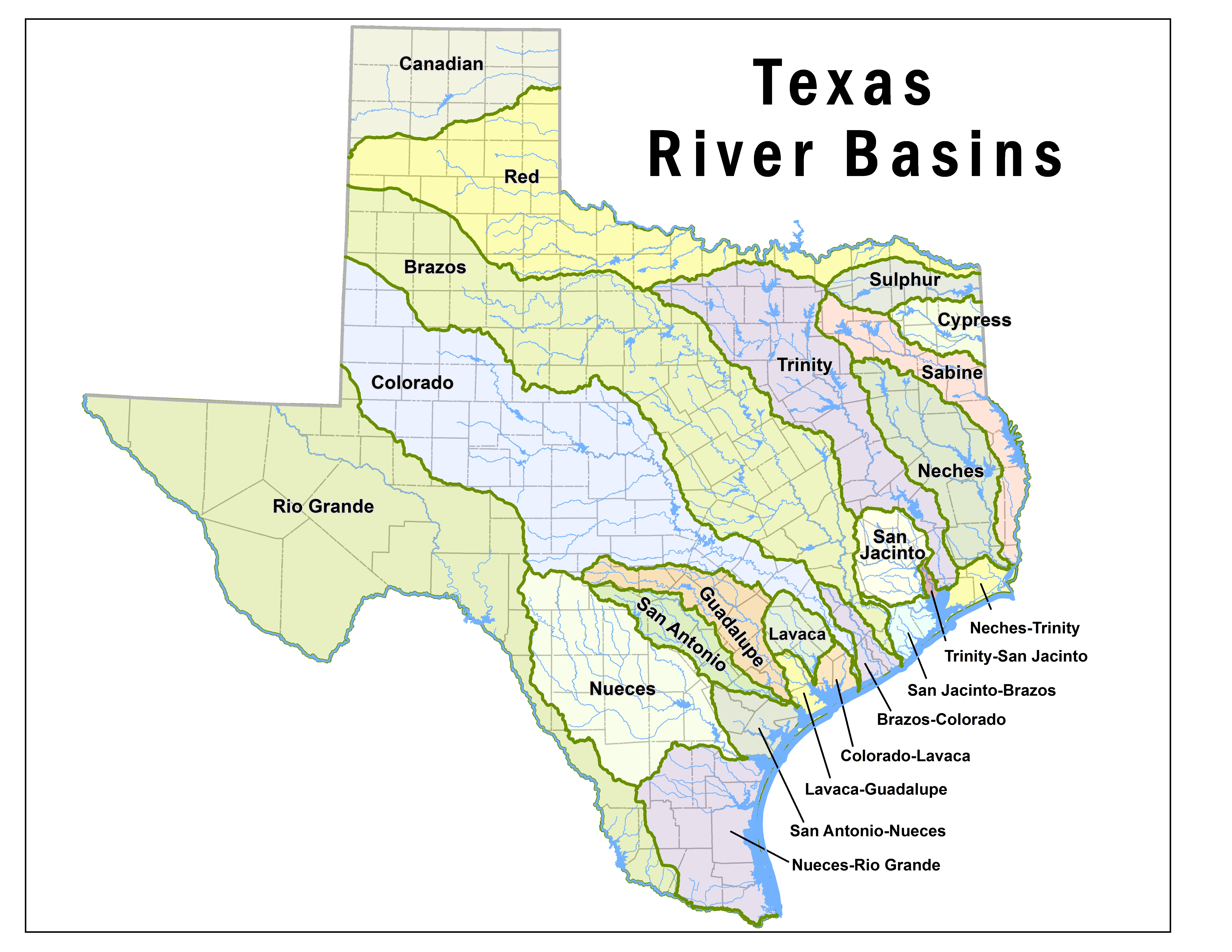 Pending Water Right Applications TCEQ Wwwtceqtexasgov - Map of colorado river in texas