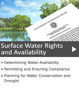 Surface Water Rights and Availability