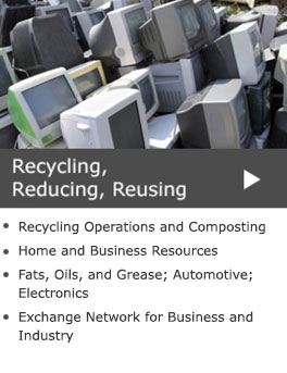 Recycling, Reducing, Reusing