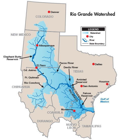 Rio Grande Watershed map