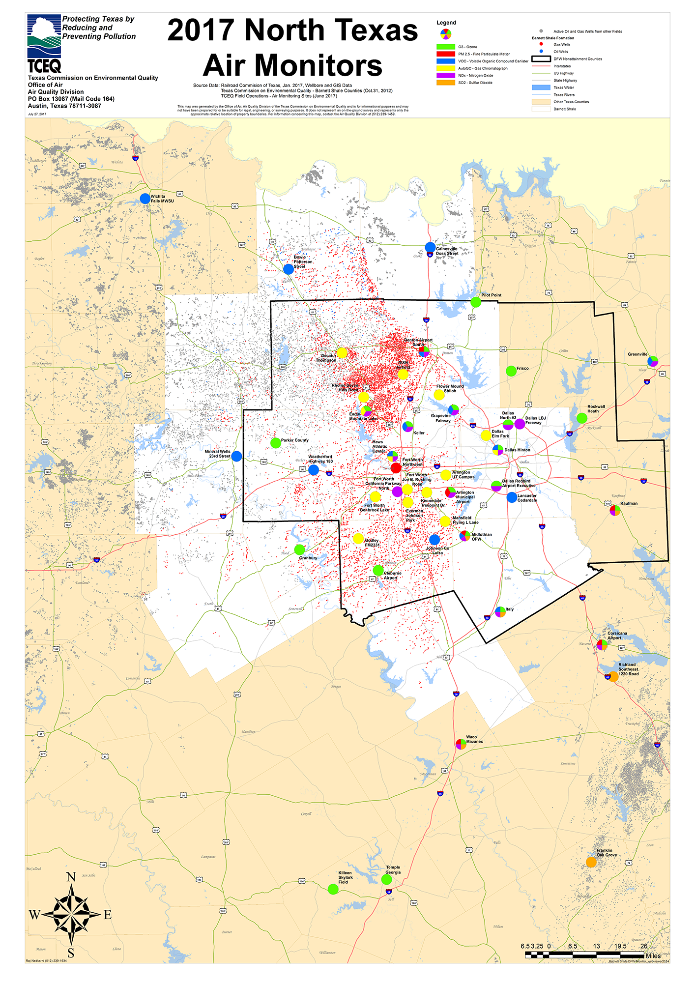 Barnett Shale Maps And Charts TCEQ Wwwtceqtexasgov - North texas map
