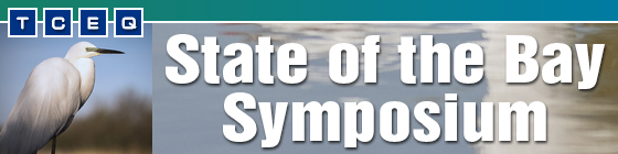 Banner for the State of the Bay Symposium featuring an egret