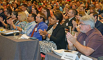 Honorees and other attendees take part in the Public Drinking Water Conference.