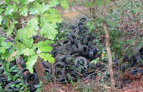 Illegally dumped tires pose health risks to communities and are prime targets for cleanup with the help of a SEP.