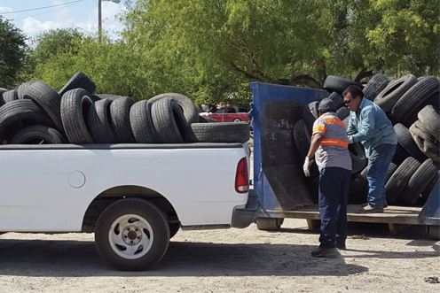 A coordinated effort in the city of San Juan and communities in that region collected and disposed of 42,000 used and scrap tires.