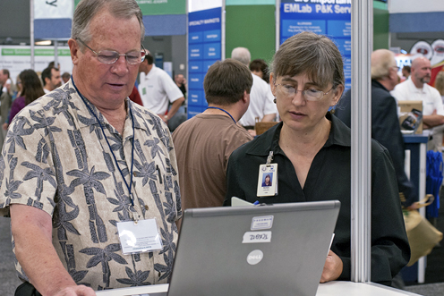 At TCEQ's annual Environmental Trade Fair and Conference, Carlson—nowadays TCEQ's publishing manager—conducts internet usability studies along with her team to finetune the agency's website.