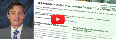 TCEQ Chairman Jon Niermann discusses TCEQ plans during Covid-19
