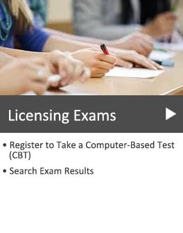 People taking exam