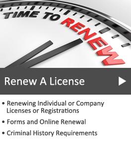 Renewal Licenses or Registrations