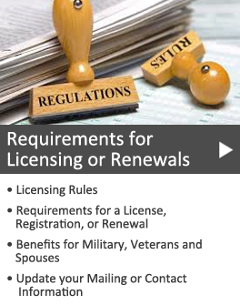 Requirements for licenses
