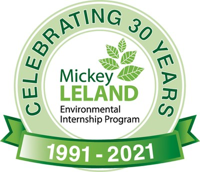 Mickey Leland Environmental Internship Program Logo 30 years