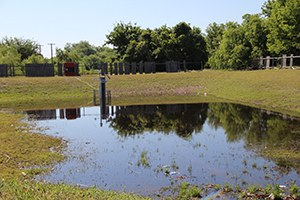Pon Court Basin, Outflow Sampler